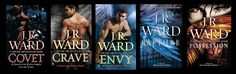 JR Ward not only has The Brotherhood of the Black Dagger she also writes The Fallen Angel series.The hottest angels around. Two of my favorite series. I Love Books, Good Books, Books To Read, My Books, Christine Feehan, Paranormal, Jeaniene Frost, Book Authors, Romance Books