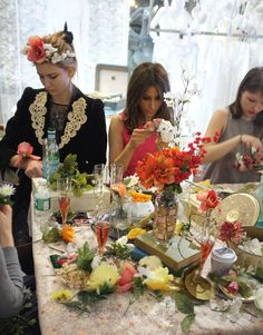 Flower crown making party