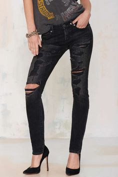 A Gold E Chloe Distressed Skinny Jean | Shop Clothes at Nasty Gal!