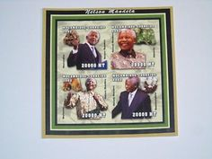Stamp Pickers Mozambique 2002 Nelson Mandela Imperf S/S MNH Sc #1605 $21+ Guinea Bissau, Nelson Mandela, Auction, Stamp, Peace, Ebay, Stamps, World