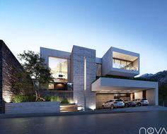 Busca imágenes de diseños de Casas estilo moderno}: Fachada principal. Encuentra las mejores fotos para inspirarte y y crear el hogar de tus sueños.