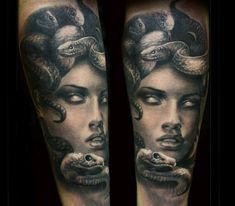 medusa tattoo by steffi eff