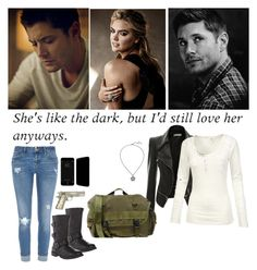 """She's Like The Dark, But I'd Still Love Her Anyways - Supernatural - Dean Winchester"" by alyssaclair-winchester ❤ liked on Polyvore featuring Fat Face, River Island, Briefing, supernatural and DeanWinchester"