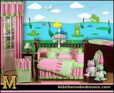 Cute Frog Themed Baby Nursery For A Little In Pinks And Greens
