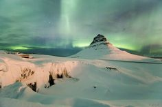 Kirkjufell and aurora borealis by Aðalsteinn Valur  Grétarsson - Photo 93151815 / 500px
