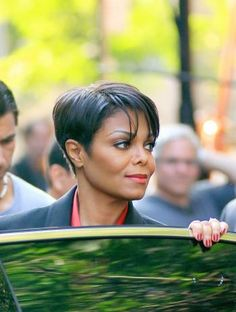 Janet Jackson- Yep, my new hair color & cut too... If only I were as gorgeous as Janet! *Sigh