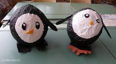ondecole.ch - Pingouin en papier mâché