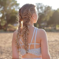 Dutch fishtail pigtails in Greece