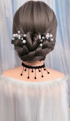 Try this hairstyle today? Girls attend hairstyles for formal occasions and are easy to learn Formal Hairdos, Medieval Hairstyles, Formal Hairstyles For Long Hair, Little Girl Hairstyles, Braided Hairstyles, Wedding Hairstyles, Short Hair Styles Easy, Medium Hair Styles, Hairstyle For Girls Video