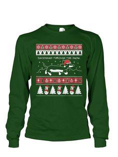 Christmas Long Sleeve- Dachshund Through The Snow -Unisex Long Sleeve