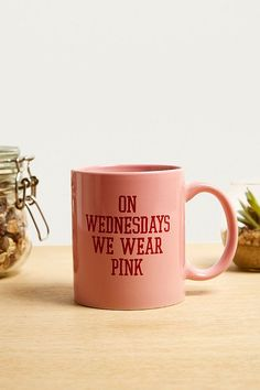Slide View: 1: On Wednesdays We Wear Pink Mug