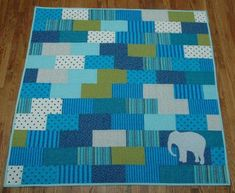 Free Quilt Pattern - Free Applique Patterns, Free Sewing This could work with the Tardis in the corner instead of elephant