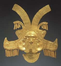 Headdress Ornament Date century Geography Colombia Culture Calima Yotoco Medium Gold Dimensions H 10 x W 9 3 8 in 25 4 x 23 8 cm Classification Metal-Ornaments Ancient Jewelry, Antique Jewelry, Ancient History, Art History, European History, Ancient Aliens, Statues, Colombian Art, Inca