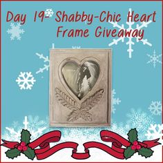 Today we are giving away this lovely Shabby-Chic frame. Perfect for displaying family photographies. If you would like to win it,  go to our Pinterest Advent Calendar and repin the image.
