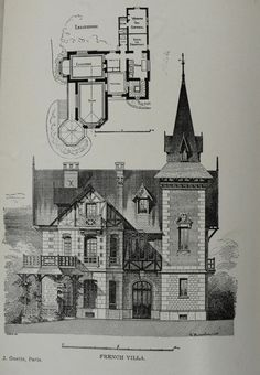 French villa - Architectural Record magazine. 1899