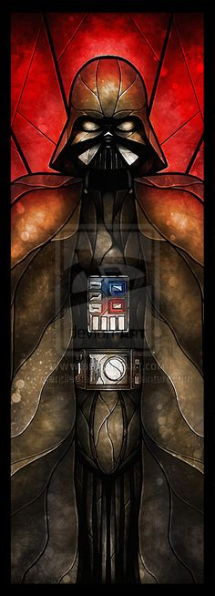 Darth Vader #starwarsart #stainedglass