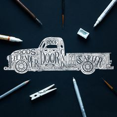 Old GMC truck lettering. on Behance