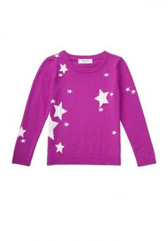 MILLY MINIS STAR INTARSIA PULLOVER