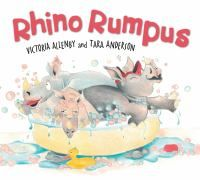 """Rhino Rumpus by Victoria Allenby: """"Three rhino siblings squabble and spat their way through their bedtime routine. When they realize how tired their bickering has made Mama Rhino, the three find common ground in giving her a sweet surprise. Good Books, My Books, Book Bins, Baby Rhino, Bedtime Routine, Happy Reading, Early Literacy, New Kids, Book Illustration"""