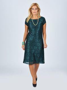Nidya Moda - Nidya Moda Büyük BedenDantel Vako Elbise-4035DY