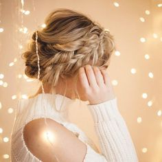 Braided Halo Hairstyle: Easy Updo for Long Hair – Luxy Hair Braided Halo Hairstyle: Halo Hairstyle, Braided Hairstyles Updo, Braided Updo, Easy Updo, Fishtail Braids, Romantic Hairstyles, Stylish Hairstyles, Wedding Hair Down, Hair Blog