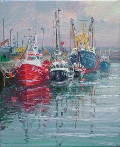 Mark PRESTON-Fishing Boats, Newlyn