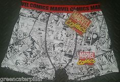 Marvel Comics Mens HIPSTER Boxer Briefs Pants Spiderman, Ironman & Wolverine NEW
