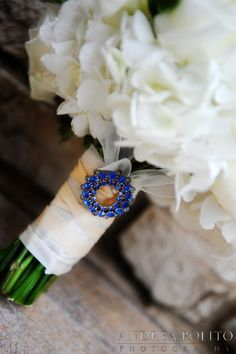 Chic something blue for your bouquet. Andrea Polito Photography