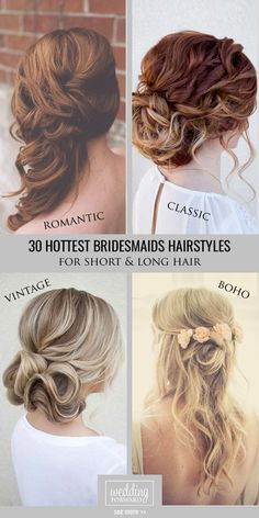 30 Hottest Bridesmaids Hairstyles For Short & Long Hair ❤ We collected elegant and popular bridesmaids wedding hairstyles for long and short hair. See more: http://www.weddingforward.com/hottest-bridesmaids-hairstyles-ideas/ #weddings #hairstyles #bridesmaids