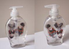 kids in a soap bottle! Love it!