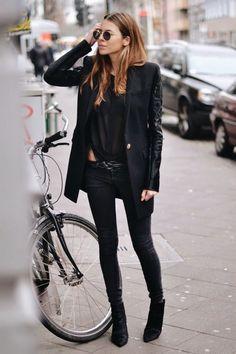 Fashion Cognoscente: Fashion Cognoscenti Inspiration: Mostly All Black , in