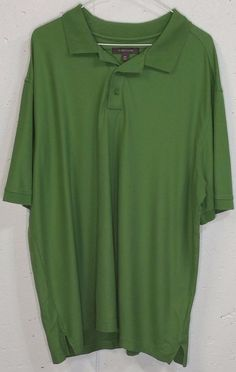 Nordstrom Mens Green 100% Cotton Short Sleeve Polo Shirt XXL 2XL #Nordstrom #PoloRugby