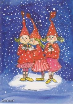 Postcrossing postcard from Finland Christmas Mood, Christmas Cards, Christmas Ornaments, Childrens Christmas, Old Fashioned Christmas, Winter Art, Christmas Illustration, Whimsical Art, Christmas Pictures