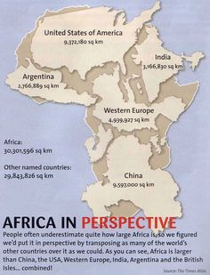 Africa In Perspective: It's big. Really big. - Doobybrain.com
