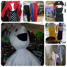 Clowns, pirates, nerds, witches, sunflower, clowns, and ghosts abound at Halloween at Goodwill!