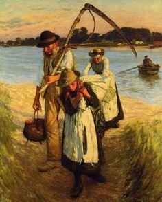 Traveling Harvesters -  Herbert La Thangue (Brithish, 1859 -1929) Realism