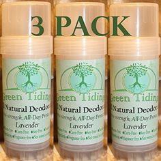 Green Tidings All Natural Deodorant Extra Strength All Day Protection Lavender 27 oz 3 PACK 15 OFF -- Want to know more, click on the image.