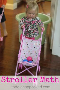 Stroller Number Fun - math idea for toddlers