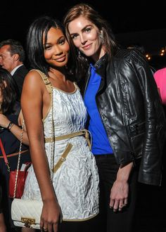 Chanel Iman and Hilary Rhoda at Ralph Lauren: New York Fashion Week, Spring 2015.