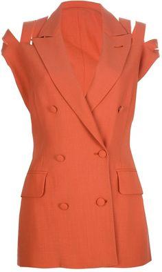 JEAN PAUL GAULTIER Orange Double Breasted Blouse - Lyst