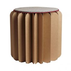 Foldable Stool/Table - Brown | BOOKNITURE
