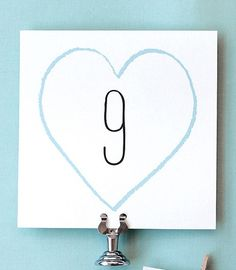 Free   table numbers to download on our blog today! table_number_free_download_wedding_template