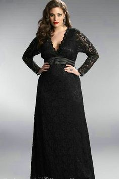 Plus size formal dresses with sleeves great, i'm keen on the image. Plus Size Black Dresses, Formal Dresses With Sleeves, Plus Size Outfits, Long Dresses, Dress Long, Dresses Uk, Gowns For Plus Size Women, Party Dresses, Dress Sleeves