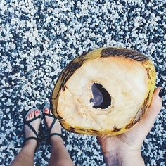 An afternoon at the ocean going coconuts with @rebeccacarmen.