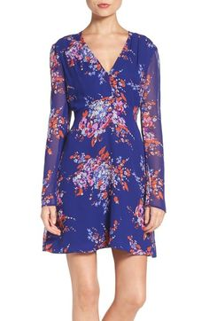 Charles Henry Floral Print Fit & Flare Dress available at #Nordstrom
