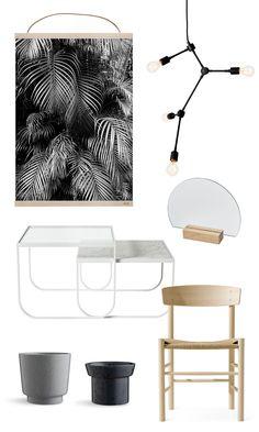 botanical no 1 print by coco lapine menu franklin lamp half mirror by