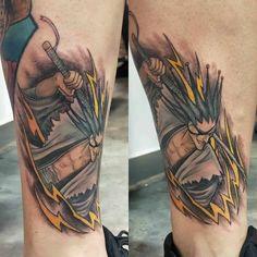 One Piece Tattoos, Top Tattoos, Great Tattoos, Small Tattoos, Manga Tattoo, Anime Tattoos, Bleach Swords, Bleach Tattoo, Kenpachi Zaraki
