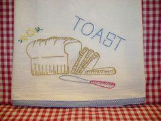 Toast tea towel