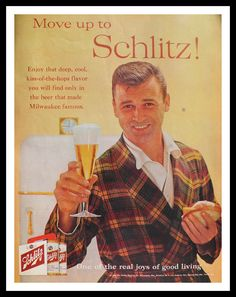 Vintage Schlitz Beer Ad 1960 Post Magazine 13 1/2 x 10 1/2 Ready for Framing. Description from etsy.com. I searched for this on bing.com/images