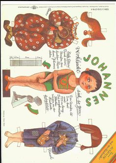 JOHANNES * 1500 free paper dolls from artist Arielle Gabriel The International Paper Doll Society for Pinterest paper doll pals *